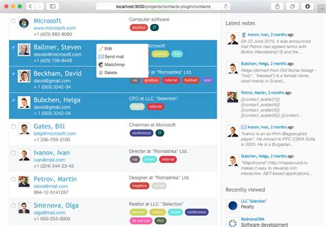 Redmine Mailchimp plugin: integrate contacts with