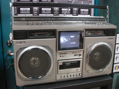Sharp TV/boombox | In Tower Records Shibuya, I so wanted