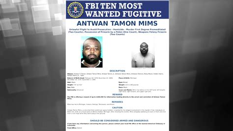 Wanted by the FBI: Reward Available for Ten Most Wanted