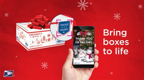 USPS Augmented Reality iPhone App Adds Festive Video to Gifts