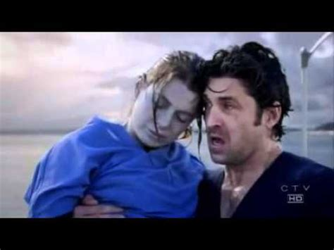 Grey's Anatomy Derek saves Meredith from the water - YouTube