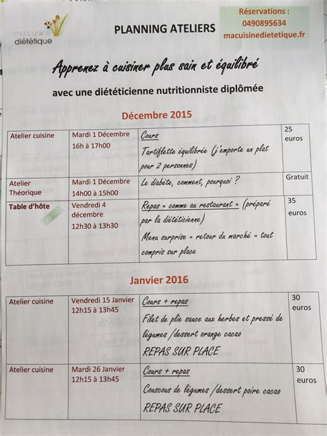 planning hiver 2015/2016