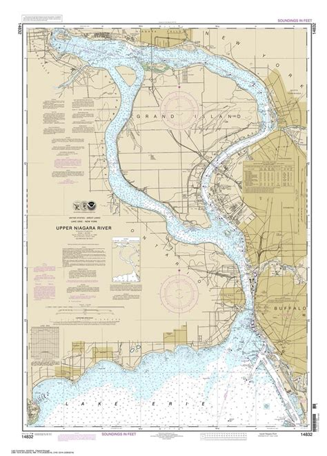 TheMapStore | NOAA Charts, Great Lakes, Lake Erie, 14832