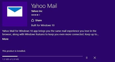Yahoo Mail app for Windows 10 users gets updated on the