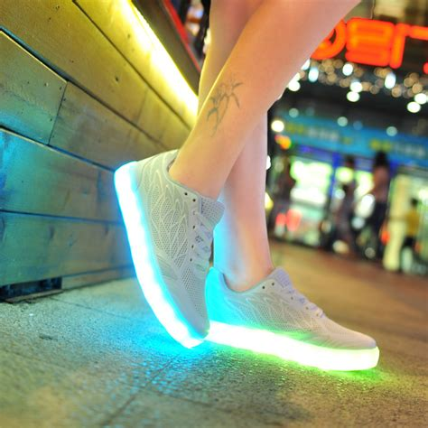 Unisex Light Up Wings Shoes White (LED Rechargeable