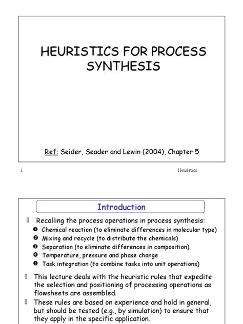 Heuristic s | Filtration | Crystallization