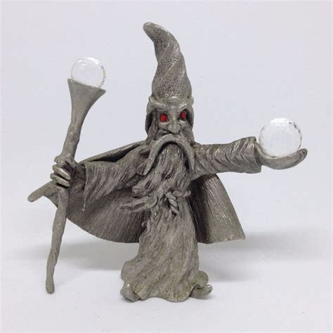 Spoontiques Pewter Wizard Crystal Ball Staff Fantasy