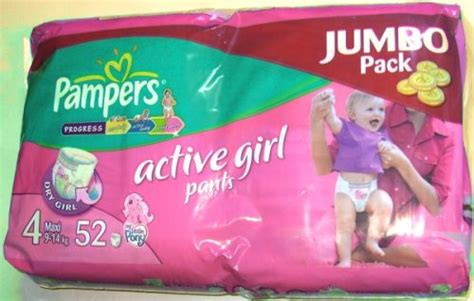Pampers Active Girl Pants 4 Maxi 9-14 kg Jumbo Pack