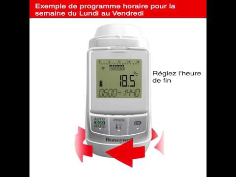 HONEYWELL HOME - Tête thermostatique Thera 3 blanche avec