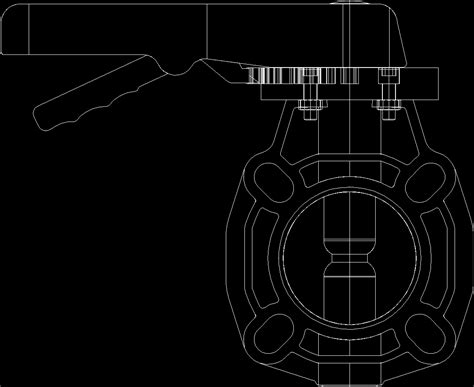 Butterfly Valve DWG Block for AutoCAD • Designs CAD