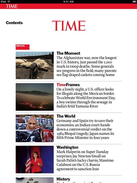 TIME App for iPad - TIME