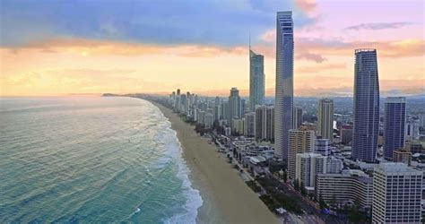 Surfers Paradise skyline in the Gold Coast in Queensland