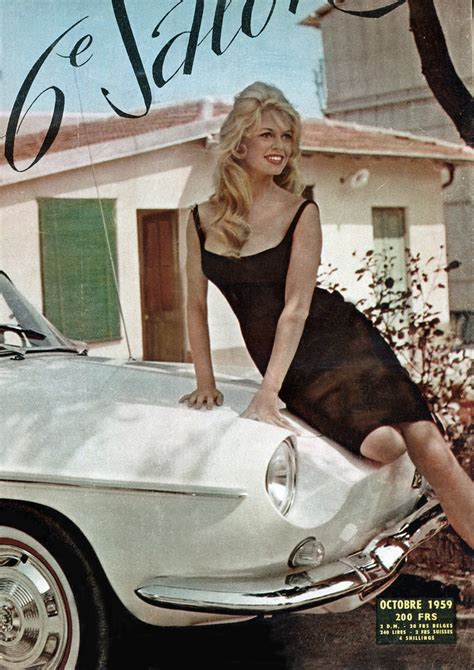 Brigitte Bardot & Floride 1959 | Star launch of cabrio
