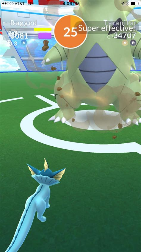 Tyranitar taken down with 25 seconds remaining by a 3-man