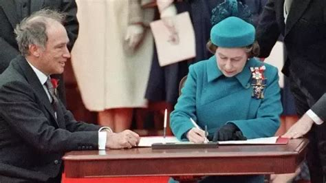 Who signed the Constitution of Canada? Queen Elizabeth II