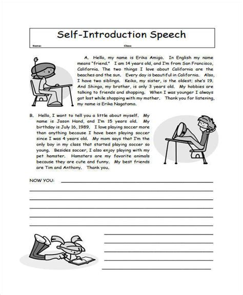 FREE 5+ Introduction Speech Examples & Samples in PDF