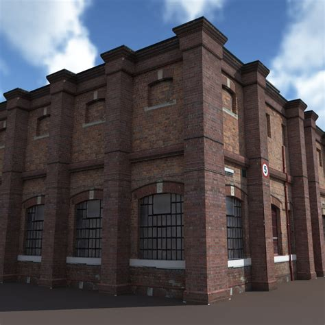 Old Factory Low Poly 3d Building by Cerebrate | 3DOcean