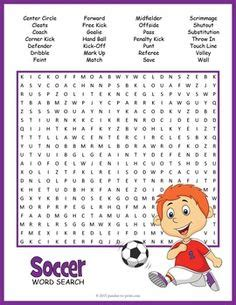 Soccer word search   world cup   Pinterest   Soccer