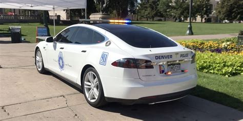 A Tesla Model S converted into a police car by Denver PD