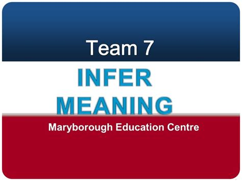 Infer meaning in a text