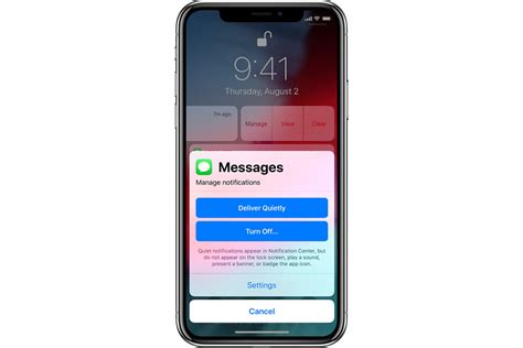 How to modify iOS Notifications settings at the lock