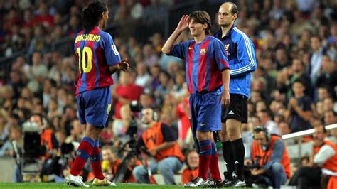 Every goal and assist between Leo Messi and Ronaldinho