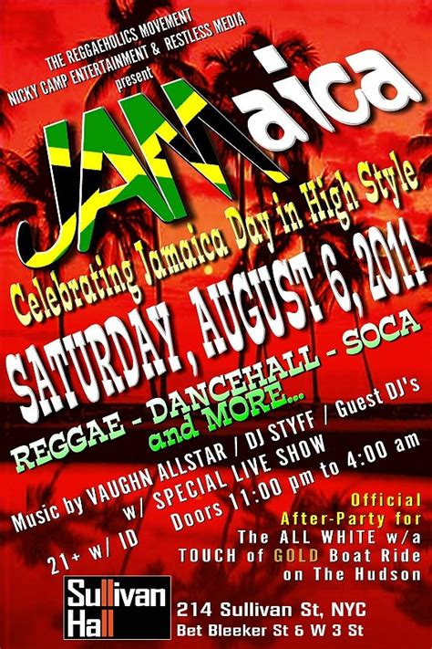 RA: Jam! The Jamaican Independence Day Dance Party at