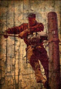 TNT: Norman Rockwell Revisioned Telephone Lineman Print 11