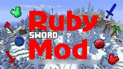 The ruby sword mod for Minecraft PE iOS, Android Download