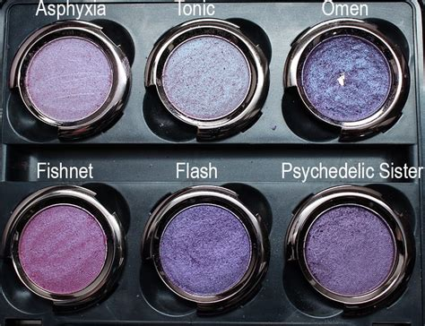 Urban Decay Purple Palette - Swatches on Pale Skin