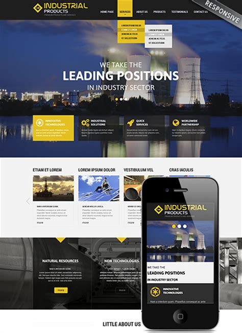 Industrial Products Responsive Wordpress Template