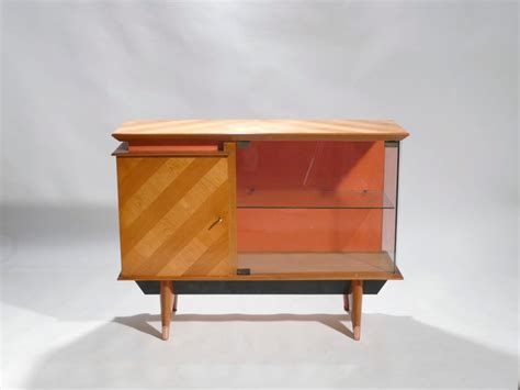 Mid Century French Modernist Cabinet Vaisselier, 1950s For