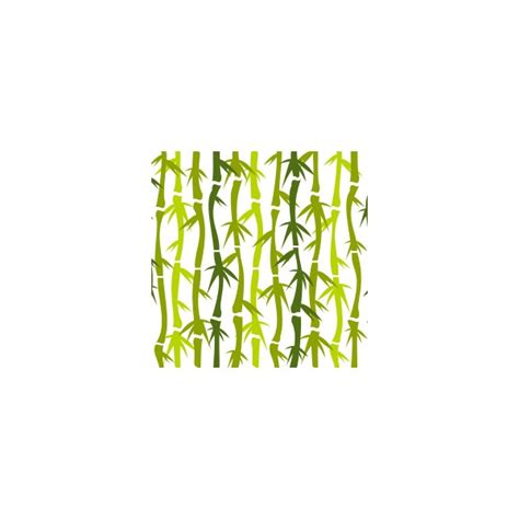 Coussin carré bambou vert Bamboo - Deco-tissus