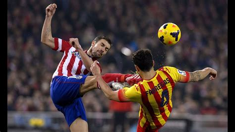 Barcelona vs Atletico Madrid - Fights, Fouls, Dives & Red