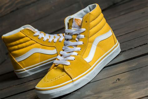 Vans Sk8-hi (suede/canvas) Spectra Yellow/ True White for