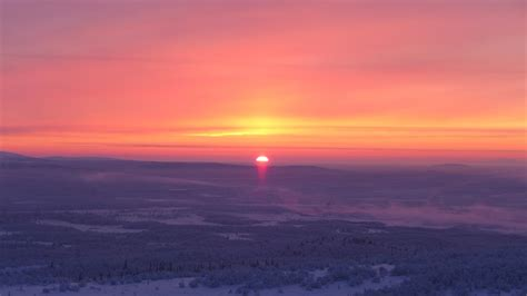 First sunrise in six weeks for residents of Murmansk