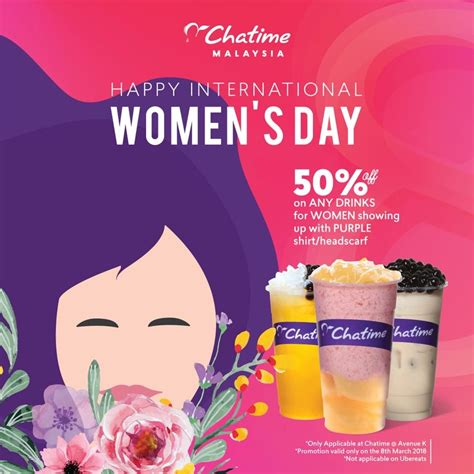 Chatime Offer 50%off Discount! - Chatime 奶茶女王节,优惠半价而已!