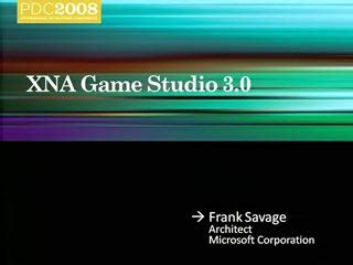 Microsoft XNA Game Studio: An Overview | pdc2008 | Channel 9