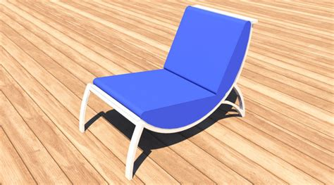 fauteuil simple, 3D Library - Objets mobiliers jouets