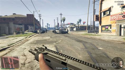 First Person Shooting in GTA 5 - PS4 Gameplay - GameSpot