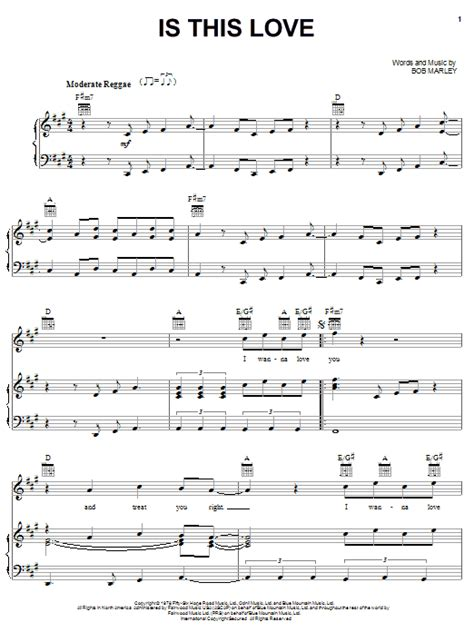 Is This Love | Sheet Music Direct